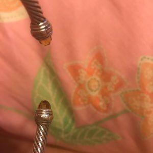 David Yurman Jewelry - David Yurman Cable Bracelet w/ Citrine & 14K, 5mm